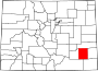 Map of Colorado highlighting Bent County.svg