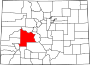Map of Colorado highlighting Gunnison County.svg