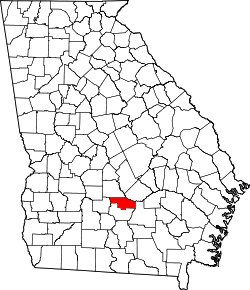 map of Georgia highlighting Ben Hill County