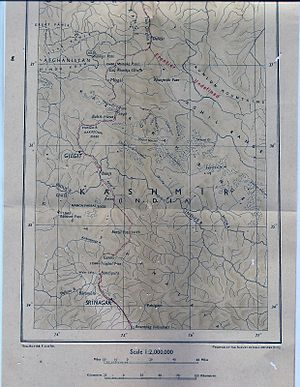 Misgar, Gojal - Image: Map of Kashmir published by The Survey Of India