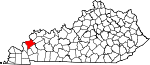 State map highlighting Crittenden County