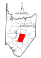 Map of Kittanning Township, Armstrong County, Pennsylvania Highlighted.png