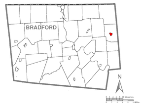 Map of Le Raysville, Bradford County, Pennsylvania Highlighted.png