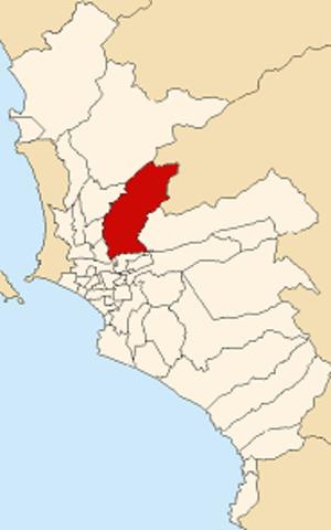 San Juan de Lurigancho - Image: Map of Lima highlighting San Juan de Lurigancho