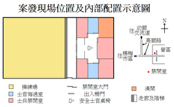 Map of confinement cell by the death of corporal Hung Chung-chiu.PNG