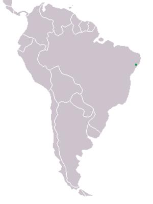 White-collared kite - Image: Mapa distribuicao Leptodon forbesi