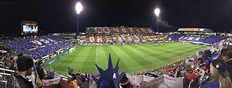 Mapfre Stadium - The crowd performs a card display prior to the 2018 World Cup qualifier between the United States MNT and Mexico on November 11, 2016 at MAPFRE Stadium in Columbus, Ohio.