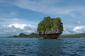 Marabut, Philippines, Limestone islands in San Pedro Bay 2.jpg