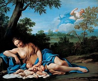 Marcantonio Franceschini - Birth of Apollo and Diana, Liechtenstein Palace, Vienna