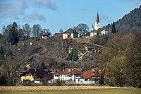 Maria Saal Karnburg Pfarrkirche hll Peter und Paul mit Pfarrhof 01032015 0131.jpg