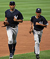 Mariano Rivera and son pre-game in Baltimore August 2008.jpg