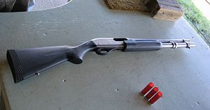 The Remington 870 Marine Magnum.