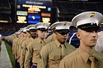 Marines stand together to unfurl Old Glory at 38th annual Holiday Bowl 151230-M-HF454-005.jpg