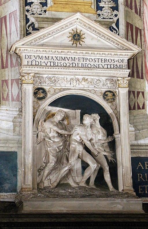 Marrina (attr.), cacciata dal paradiso terrestre (da Jacopo della Quercia)