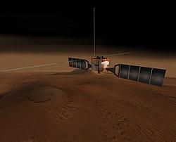 Computergenereret billede af Mars-Eksprestog