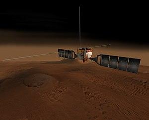 Mars Express - CG image of Mars Express