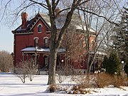 The Martin-Mitchell Mansion within the Naper Settlement outdoor museum.