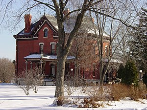 Naperville, Illinois - The Martin-Mitchell Mansion, within the Naper Settlement outdoor museum, is listed on the National Register of Historic Places