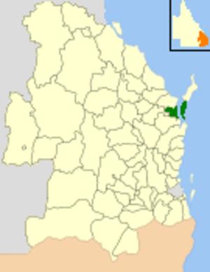 City of Maryborough (Queensland) - Location within Queensland