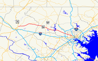 Maryland Route 26 - Image: Maryland Route 26 map