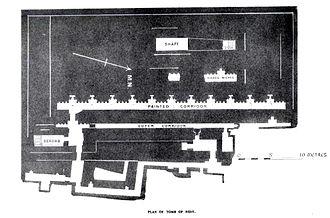 Mastaba of Hesy-Re - Plan of the Mastaba of Hesy-re