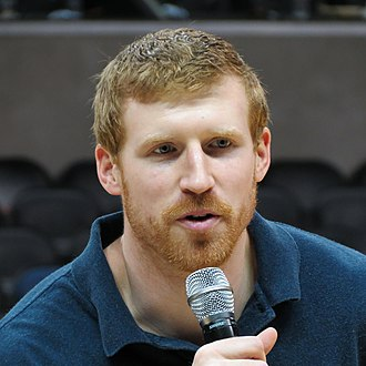 Matt Bonner - Bonner speaking into a microphone