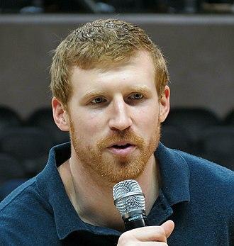 Matt Bonner - Bonner speaking into a microphone