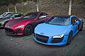 Matte Maserati GranTurismo and Audi R8 (9240937089).jpg