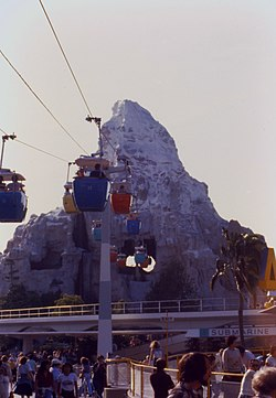 Matterhorn Bobsleds and Skyway in 1979.jpg