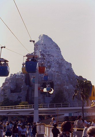 Matterhorn Bobsleds - Image: Matterhorn Bobsleds and Skyway in 1979