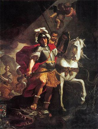 Order of St Michael and St George - St George and the Dragon by Mattia Preti (1678)