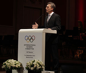2020 Summer Olympics - The then-mayor of Buenos Aires (and now President of Argentina) Mauricio Macri speaking at the 125th IOC Session.