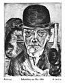 Max Beckmann - Selbstbildnis mit Hut,1921.jpg