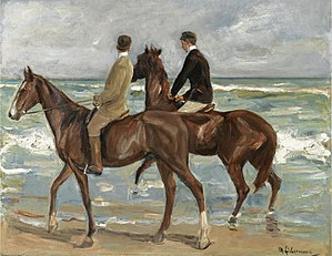 Two Riders on the Beach - Image: Max Liebermann Zwei Reiter am Strand