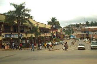 Mbabane - A street in downtown Mbabane