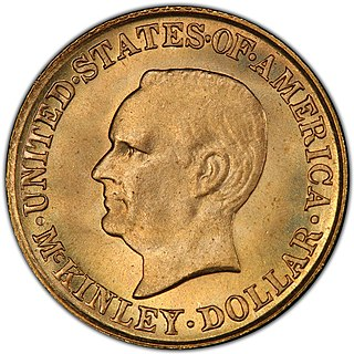 McKinley Birthplace Memorial gold dollar Commemorative gold coin featuring President McKinley