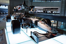 Photo de la McLaren MP4-14 exposée à Donington Park