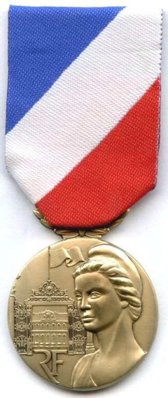 Medal for internal security - Image: Medaille de la securite interieure bronze