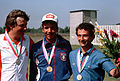 Medals after the skeet shooting event.jpg