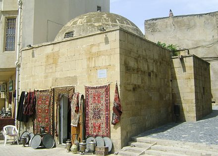 Historical Madrasah in Baku, Azerbaijan Medrese(school-mosque)-Old City Baku Azerbaijan 1646.jpg