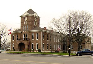 Das Meigs County Courthouse in Decatur, gelistet im NRHP Nr. 78002613[1]