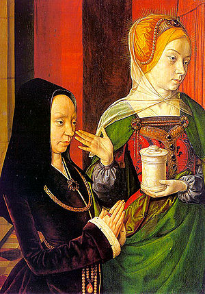 Presumed Portrait of Madeleine of Burgundy presented by Saint Mary Magdalene