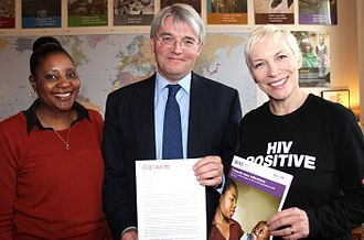 Annie Lennox - HIV campaigners, Memory Sachikonye (left) and Lennox (right) meet with the UK's Secretary of State for International Development Andrew Mitchell in December 2011