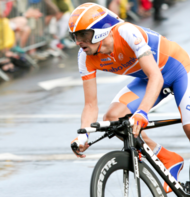 Denis Menchov pendant le Tour de France 2010.