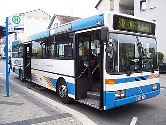 Bus manufacturing - A Mercedes-Benz O405 integral bus