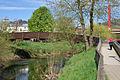 Mersch pont piétonnier Alzette vers pont suspendu 2016.jpg