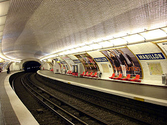 Mabillon (Paris Métro) - Image: Metro de Paris Ligne 10 Mabillon 01