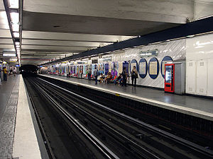 Hôtel de Ville (Paris Métro) - Image: Metro de Paris Ligne 1 station Hotel de Ville 01
