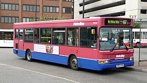 London Buses route 117 - Metroline Plaxton Pointer 2 bodied Dennis Dart SLF at Staines bus station in September 2009