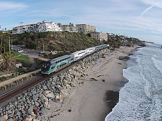 Metrolink (California) - A Metrolink train near San Clemente Pier station